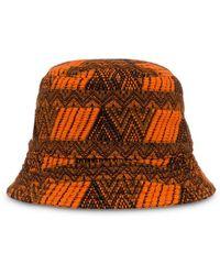 7176da74c4bd1d Prada Zigzag Logo Bucket Hat in Purple - Lyst