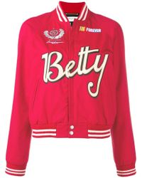b74cbabe3257 Lyst - A Bathing Ape Betty Satin Bomber Jacket in Pink