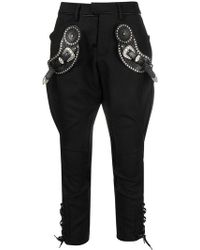 DSquared² - Buckle Embellished Trousers - Lyst