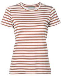 Vince - Striped T-shirt - Lyst