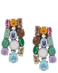 Rada' - Uneven Stone Earrings - Lyst