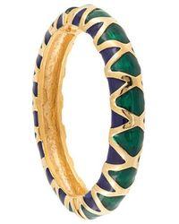 Kenneth Jay Lane - Embellished Hinge Bracelet - Lyst