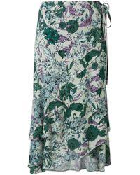 Dagmar - Floral Asymmetric Skirt - Lyst