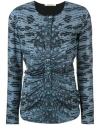 Roberto Cavalli - Printed Gathered Front Top - Lyst