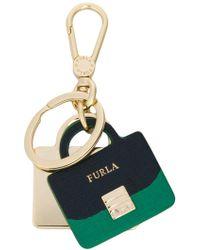 Furla - Mini Handbag Keyring - Lyst