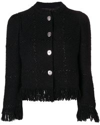 Sonia Rykiel - Button Fringe Jacket - Lyst