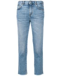 Mauro Grifoni - Frayed Cropped Jeans - Lyst