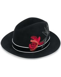 Ermanno Scervino - Embroidered Fedora Hat - Lyst