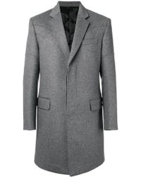 Les Hommes - Single-breasted Coat - Lyst