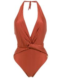 Brigitte Bardot - Aline Halter Neck Swimsuit - Lyst