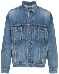 Balenciaga - Embroidered Bb Mode Denim Jacket - Lyst