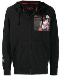 6530d598bed5a1 Lyst - Nike Air Jordan Three-fleece Hoodie in Gray for Men