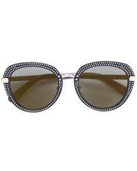 Jimmy Choo - Studded Round Frame Sunglasses - Lyst