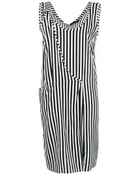 FEDERICA TOSI - Striped Asymmetric Shift Dress - Lyst