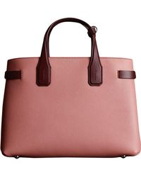 Burberry - The Medium Banner In Two-tone Leather - Lyst 5d03ae650f