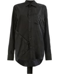 Moohong - Panelled Shirt - Lyst