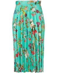 Pinko | Pleated Floral Skirt | Lyst