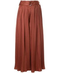 Guild Prime - Belted Pleated Palazzo Trousers - Lyst