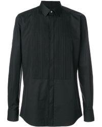 Dolce & Gabbana - Ribbed Bib Poplin Shirt - Lyst