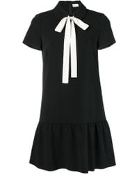RED Valentino - Bow Tie Neck Dress - Lyst