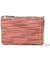 M Missoni - Zipped Rectangle Clutch Bag - Lyst