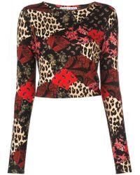 Alice + Olivia - Delaina Multi-print Sweatshirt - Lyst