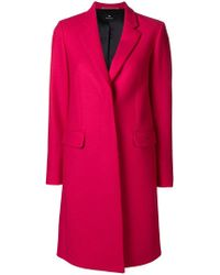 PS by Paul Smith - Tailored Midi Coat - Lyst