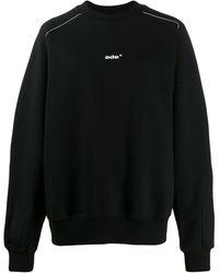 Ader Contrast Logo Sweatshirt - Black