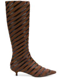 Sonia Rykiel - Striped Kitten Heel Boots - Lyst