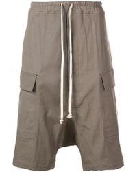 Rick Owens - Drawstring Cargo Shorts - Lyst