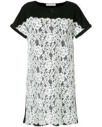 Han Ahn Soon - Lace Detail T-shirt Dress - Lyst