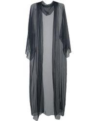 Rosetta Getty - Long Sheer Hooded Coat - Lyst