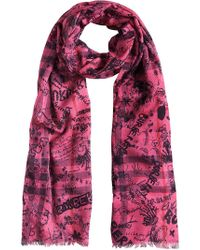 Burberry - Doodle Print Scarf - Lyst