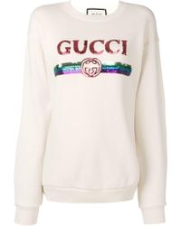 1eb07d919 Gucci 'viva! Volleyball' Manga Crewneck Cotton Jersey Sweatshirt in Black -  Lyst