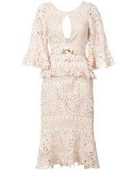 Nicole Miller - Flutter Sleeve Dress - Lyst