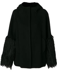 Giamba - Fringed Cuffs Coat - Lyst