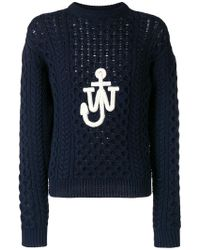 JW Anderson - Cable Knit Sweater - Lyst