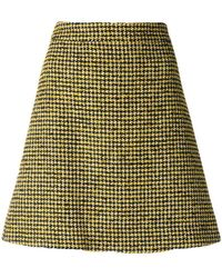 PS by Paul Smith - Dogtooth Pattern Skirt - Lyst