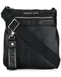 Versace Jeans - Logo Zipped Shoulder Bag - Lyst
