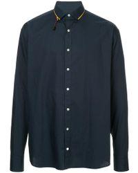 Kolor - Contrast Collar Detail Shirt - Lyst