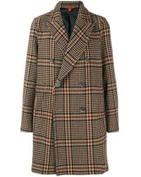 Barena - Checked Double-breasted Coat - Lyst