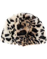 Bellerose - Leopard Print Beanie - Lyst