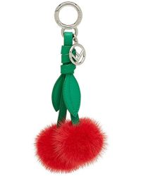 Fendi - Cherry Bag Charm - Lyst