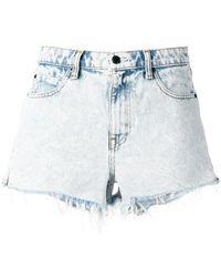 Alexander Wang - Raw Hem Denim Short-shorts - Lyst