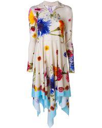 Natasha Zinko - Floral Print Asymmetric Dress - Lyst