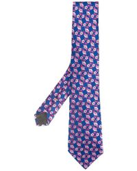 Canali - Corbata con motivo floral - Lyst