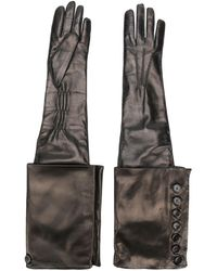 Ann Demeulemeester - Gothic Leather Gloves - Lyst
