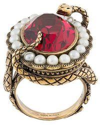 Alexander McQueen - Snake Crystak Ring - Lyst