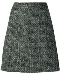 Blumarine - A-line Tweed Skirt - Lyst