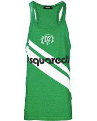 DSquared² - Logo Printed Tank Top - Lyst